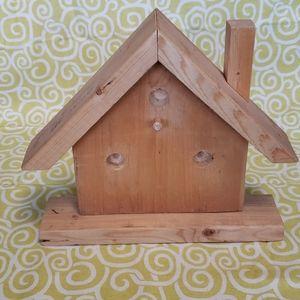 Natural wood birdhouse wall decor